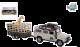 Kids Globe Land Rover met giraffe-trailer die cast pb 29cm 521723