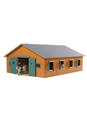 Kids Globe Horse stable Wood Brown 1:24 with 7 boxes 610595