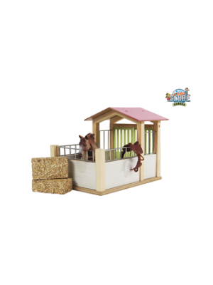 Kids Globe pink horse box (without accessories) 610206