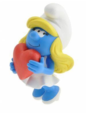 Plastoy Smurfin met hart 11 cm