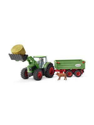 Schleich 42379 Farm Word Tractor with trailer