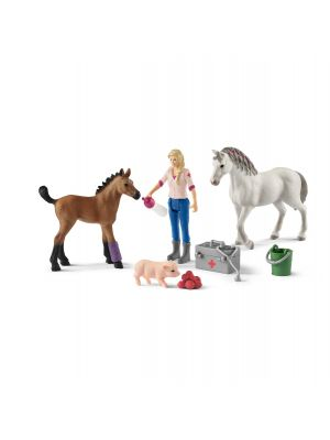 Schleich Farm Life 42486 Vet vistiting mare and foal