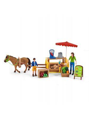 Schleich Farm World Mobiele Boeren Markt 42528