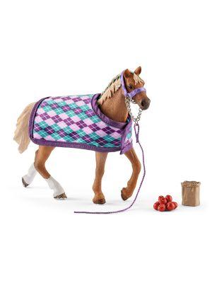 Schleich 42360 English Thoroughbred with blanket