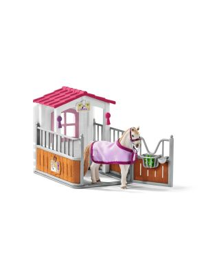 Schleich 42368 Horse stall with Lusitano Mare