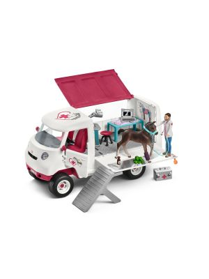 Schleich 42370 Mobiele vet with Hanoverian foal
