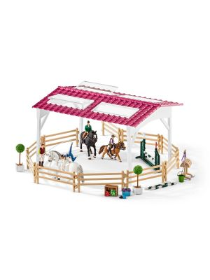 Schleich 42389 Riding school with riders and horses