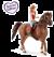 Schleich 42411 Horse Club gril 1 & Quarter horse Gelding