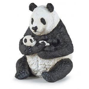 Papo Wild Life Zittende Panda met Jong 50196