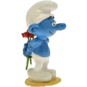 Pixi Smurf met een bloem 6433