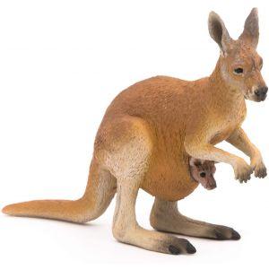 Papo 50188 Wild Kangoeroe jong met buidel