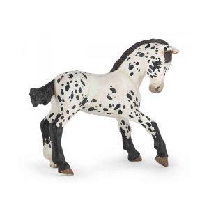 Papo Horses Paard Zwarte Appeloosa Veulen 51540