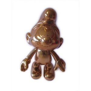 Bronskleurige Smurf 20 cm