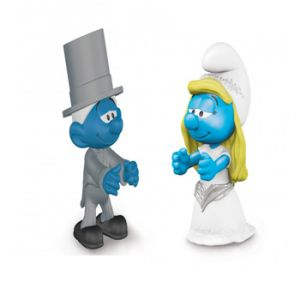 Bruid en Bruidegom Smurfen