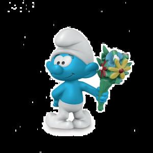Schleich 20798 Smurf with bouquet