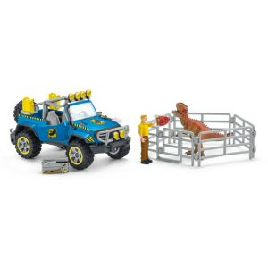 Schleich Dinosaurus 41464 off-road vehicle with dino outpost