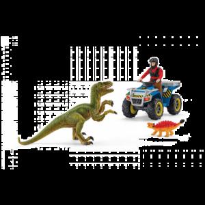 Schleich Dinosaurus 41466 Quad escape from Velociraptor