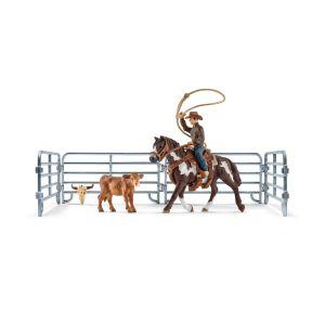 Schleich 41418 Team roping with cowboy