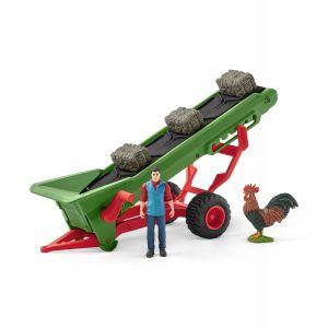 Schleich 42377 Farm Wold Hay conveyor with farmer