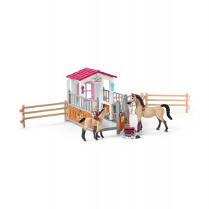 Schleich 42369 Horse stall with Arab horses and groom