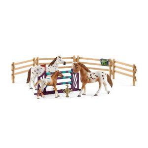 Schleich 42433 Tournamen training set & Appaloosa Horse