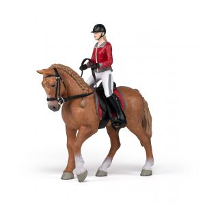 Papo Horses Wandelpaard met Zijn Ruiter 51564