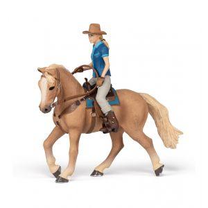 Papo Horses Westernpaard met Zijn Ruiter 51566