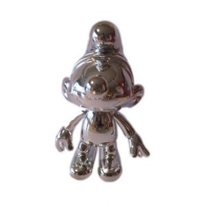 Zilverkleurige Smurf 20 cm